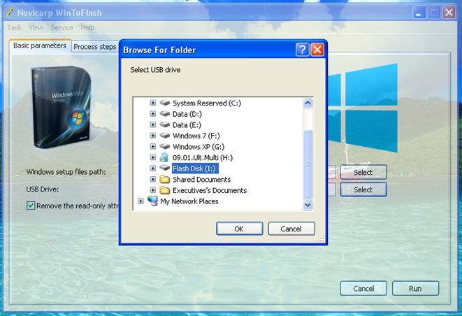 cara instal windows 7 dari flashdisk Pilihan Drive Flash Disk