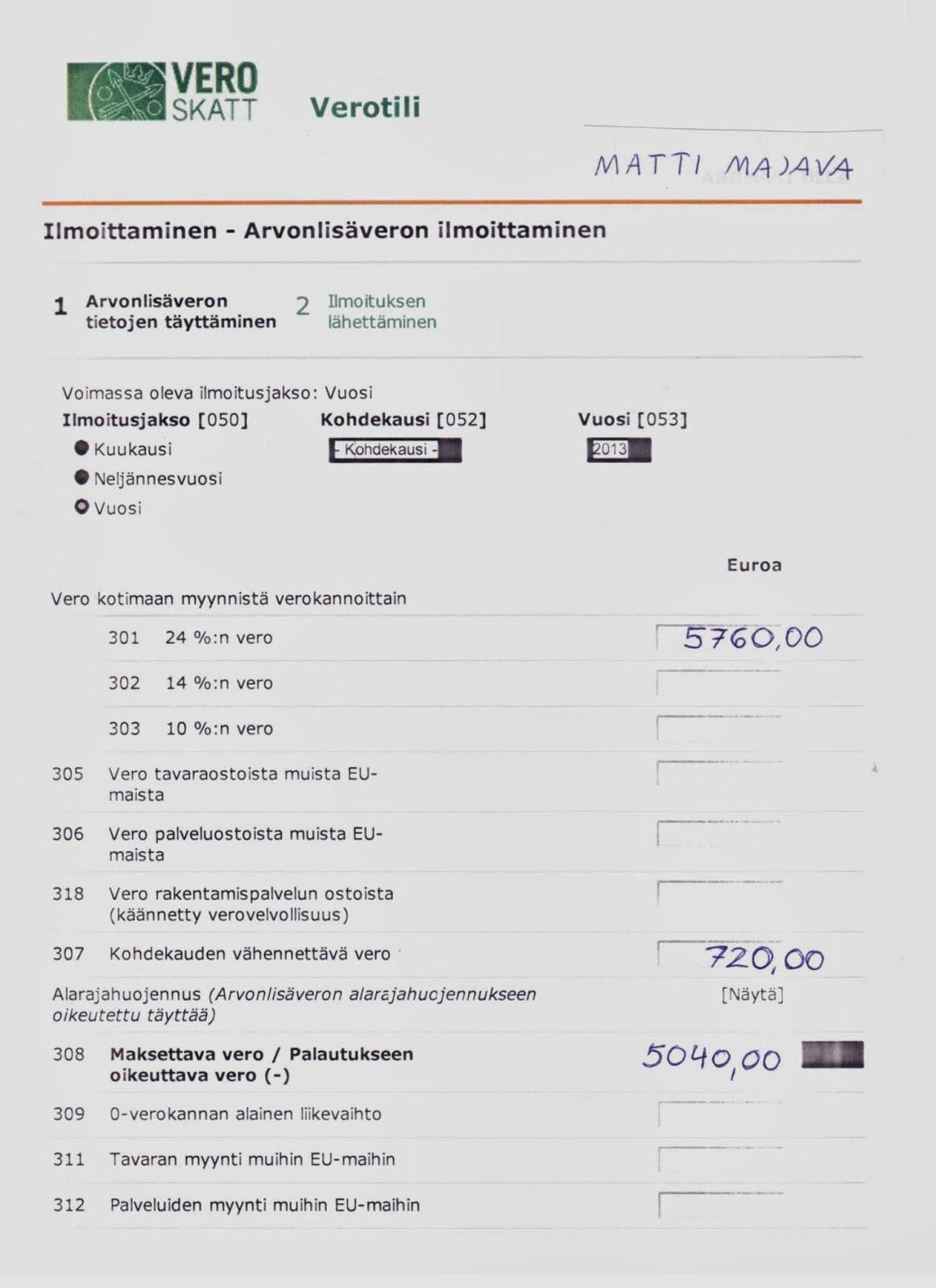 Arvonlisäveron maksupäivä