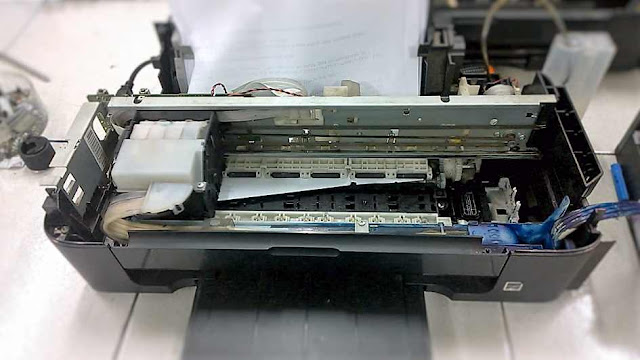Memperbaiki Printer Epson L110 L210 L300 L310 L220 Kertas selau kusut atau menyangkut saat print
