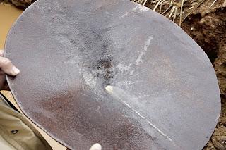 bateia caseira de ferro