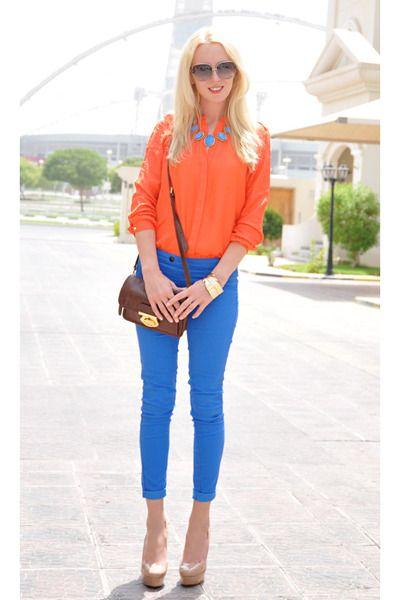 Fashion work inspiraci nmujeres 3 combinaciones for Combinaciones con azul