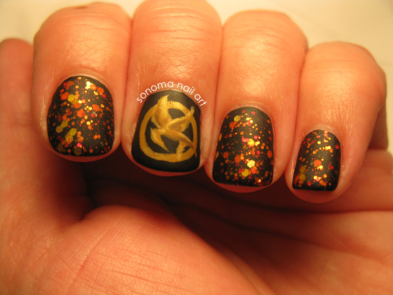Sonoma Nail Art Hunger Games The Nails On Fire