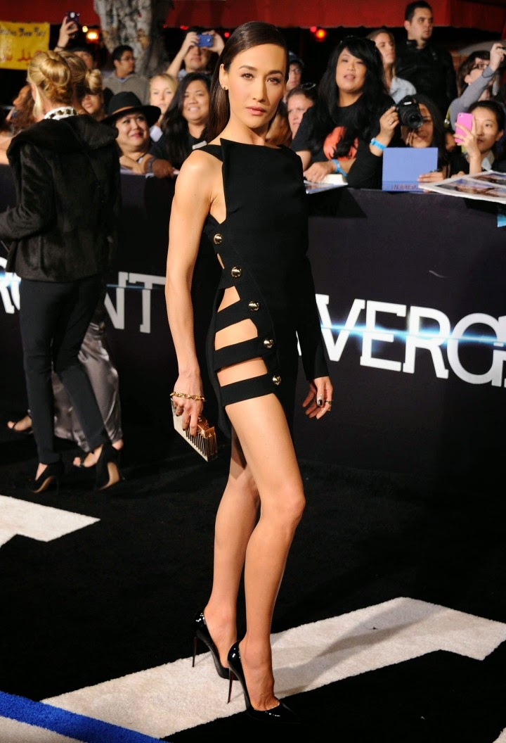 Maggie Q Wears An Anthony Vaccarello Lbd At The Divergent -1771