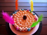 Tarta de masa sucreè con crema de naranja y crema con mascarpone. Recordatorio de Monas