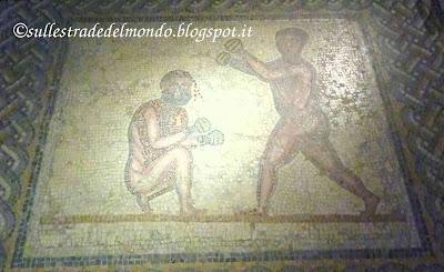 Mosaico dei due pugili