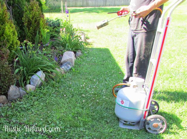 How to trim around flower beds