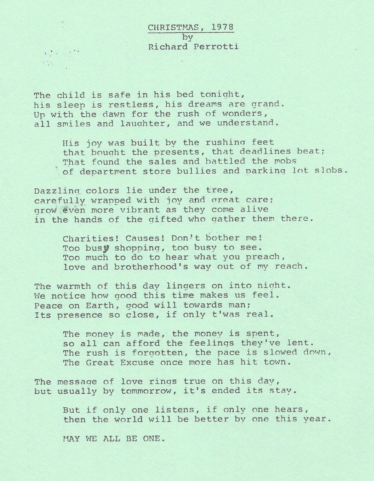 Poems About Christmas Time.Amazed Amused 34 Years Of Christmas Poems Christmas 1978