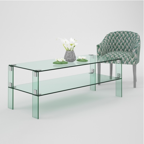 Morocco Two Tier Glass Coffee Table