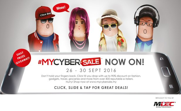 #MYCYBERSALE 2016 characters