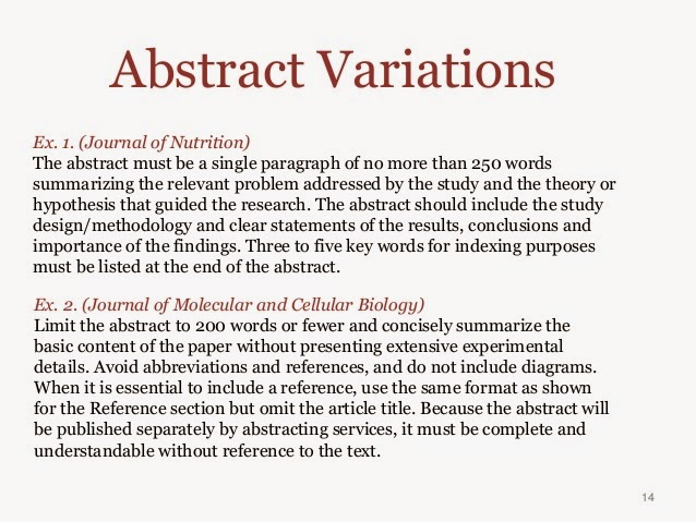 Writing abstracts for reports inc