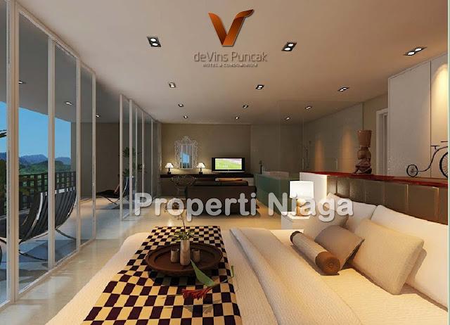 View-Bedroom-Type-C-(65m2)-Devins-Puncak-Hotel-And-Condominium