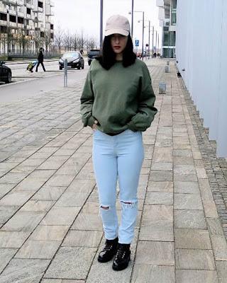 outfit juvenil oversized de invierno tumblr casual
