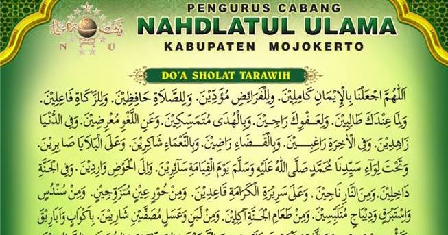 Doa Sesudah Sholat Tarawih, Witir dan Niatnya - Doa-Wirid ...
