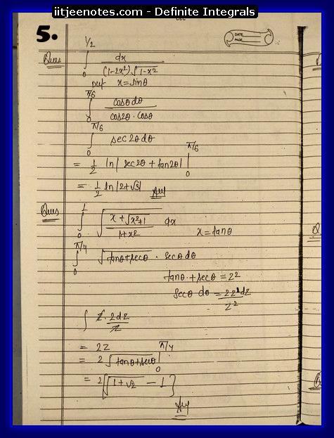 definite integrals 5