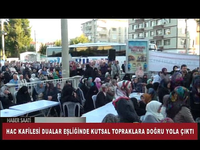 TURHAL'DA HACI ADAYLARI KUTSAL TOPRAKLARA UĞURLANDI.