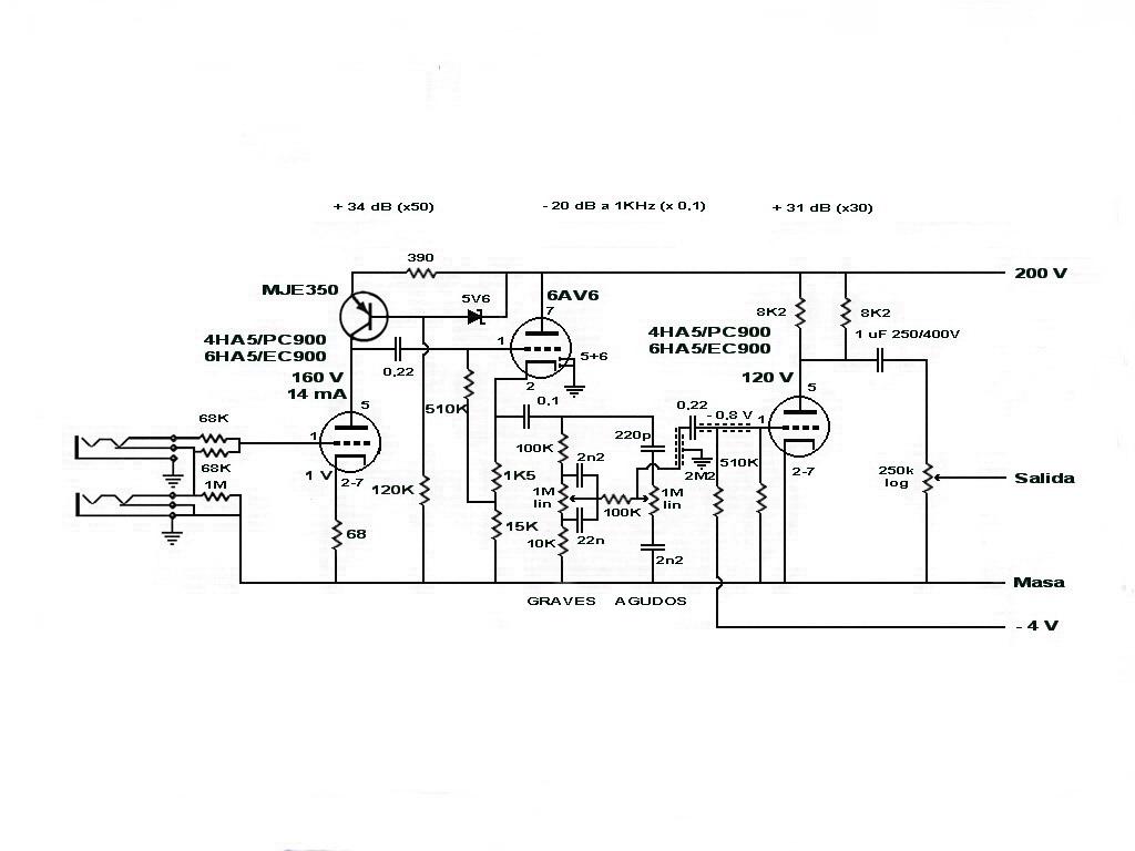 Informacion Electronica Preamplificador Para Guitarra O
