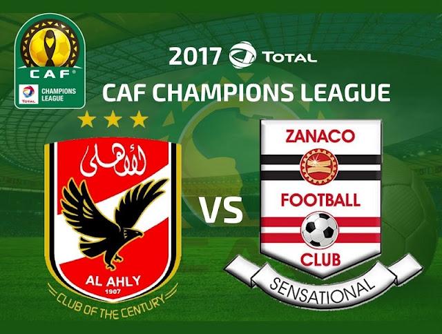 موعد مباراة الاهلي وزاناكو اليوم 1-7-2017 في دوري ابطال اوروبا