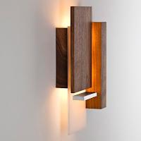 Lámparas de pared hechas de madera