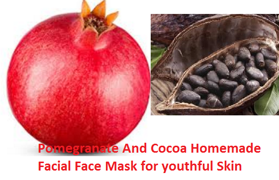 Pomegranate And Cocoa Homemade Facial Face Mask for youthful Skin