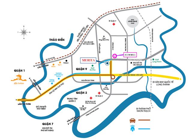 Vị trí dự kiến đặt trung tâm Aeon quận 9