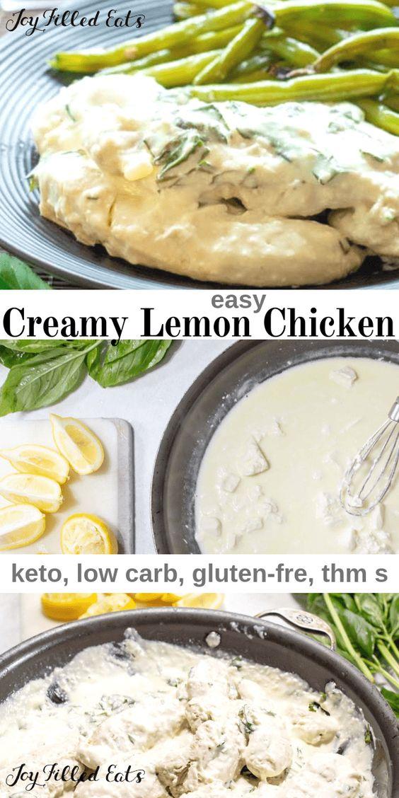 Keto Creamy Lemon Chicken with Basil
