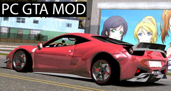 Free Download 2010 Ferrari 458 Italia Liberty Walk  Mod for GTA San Andreas.