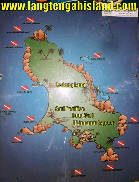Lang Tengah Map