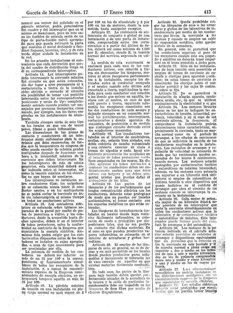 reglamento instalaciones electricas receptoras 1930 - 03
