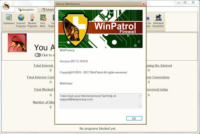 Screenshot WinPatrol Firewall 2017.5.1010 Full Version