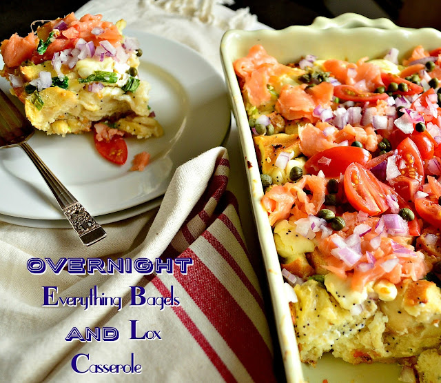 this overnight lox and bagels casserole is perfect for entertaining ...