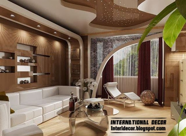 Top 10 Suspended Ceiling Tiles Designs And Lighting For Living Room