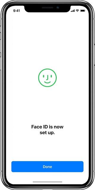 كيفية اعداد بصمة الوجه Face ID في ايفون X