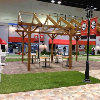 Greatmats artificial turf trade show event floor