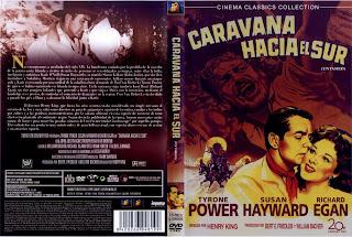Carátula: Caravana hacia el sur (1955) Untamed