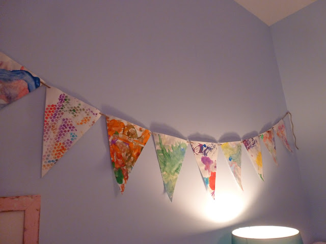 Bunting from children art