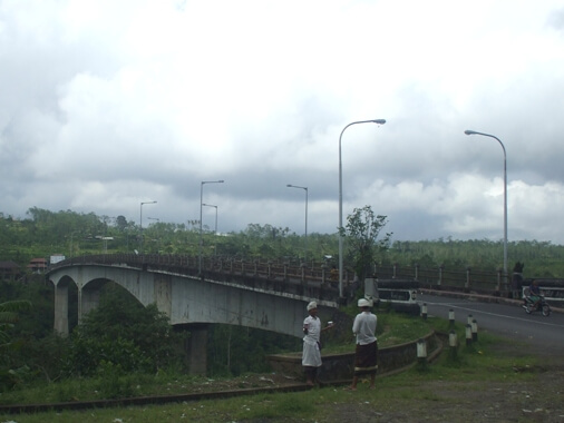 It is claimed equally the highest twosome in Asia BeachesinBali: Tukad Bangkung Bridge in Pelaga Village - Badung, Bali