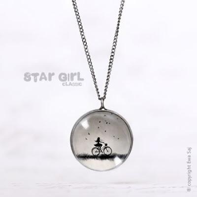 oryginalna biżuteria romantyczny naszyjnik na prezent dziewczyna na rowerze