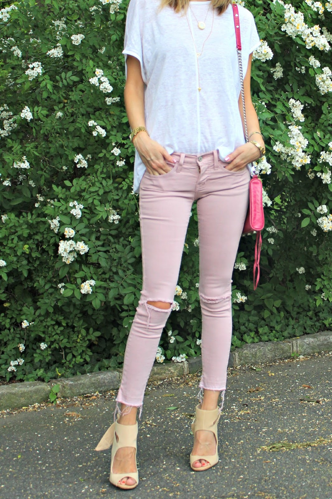 shades of pink outfit