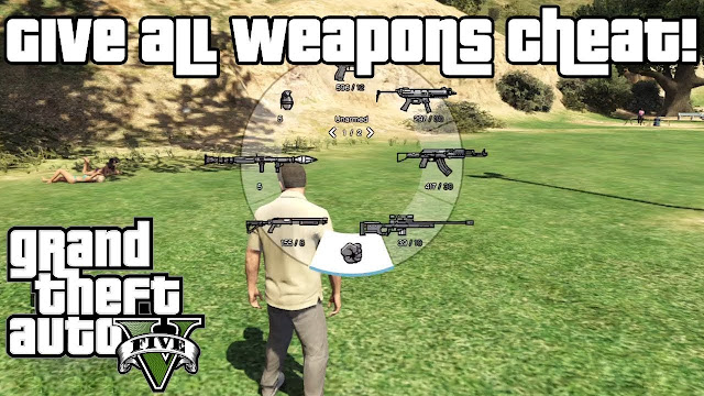 GTA 5 Weapon Cheats full list- Get free weapons