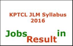 KPTCL JLM Syllabus 2016