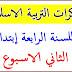 مذكرات التربية الاسلامية للسنة الرابعة إبتدائي الجيل الثاني الاسبوع الثالث