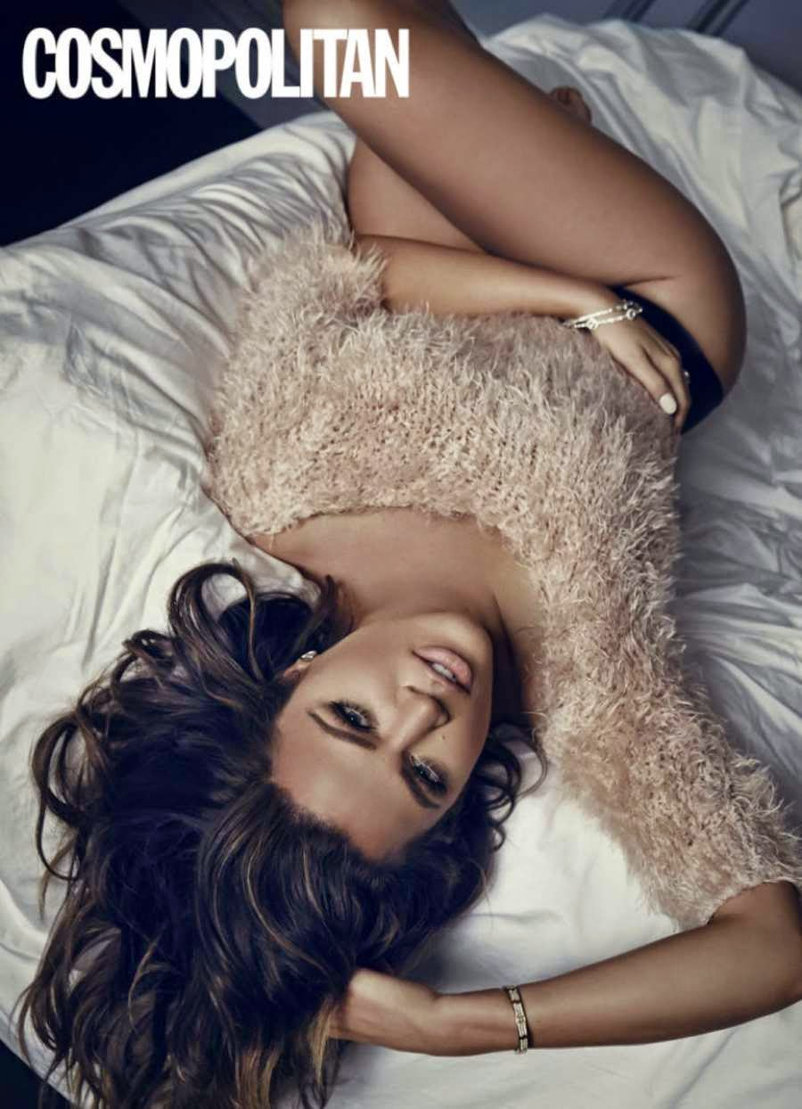 Khloe Kardashian shows off curves for Cosmopolitan UK February 2015 issue