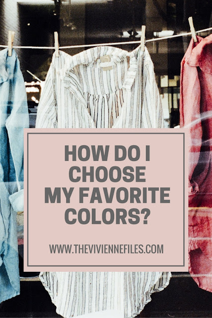How Do I Choose My Favorite Colors?