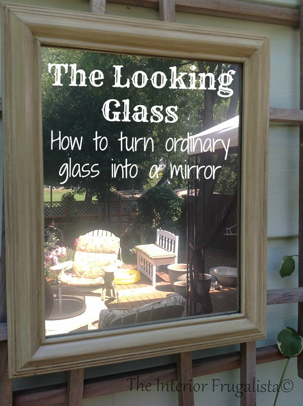 Turning ordinary glass into a mirror
