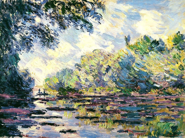 Claude Monet Section of the Seine, near Giverny (1885)