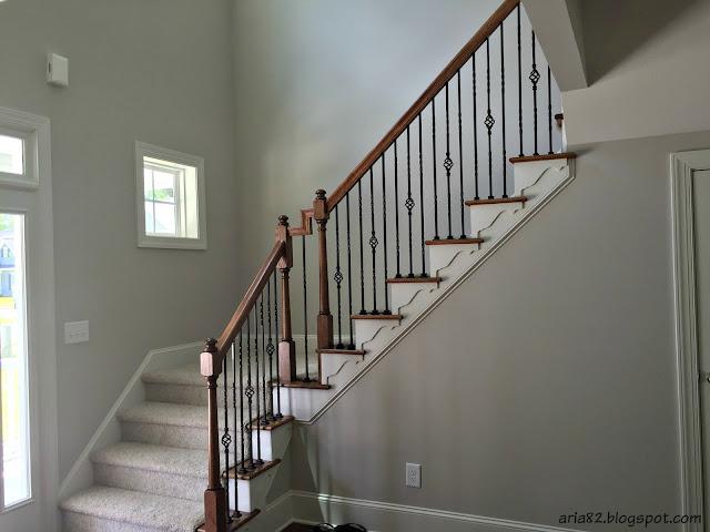 craftsman stair molding detail staircase stairway