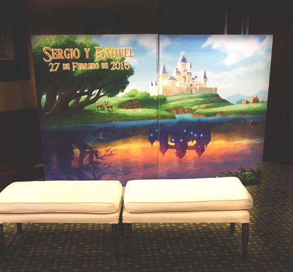 Photocall de Zelda para bodas especiales