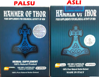 Perbedaan Hammer Of Thor Asli dan Palsu - New Formula Obat Stamina Terbaik - Hammer's 0f Thor GOLD Original ITALY 850 Mg