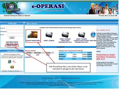 Cara Daftar e-Operasi Sistem Maklumat Guru