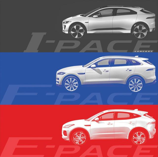 Jaguar E-Pace, I-Pace, F-Pace